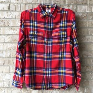 NWT Old Navy Double-Brushed Plaid Flannel Shirt M